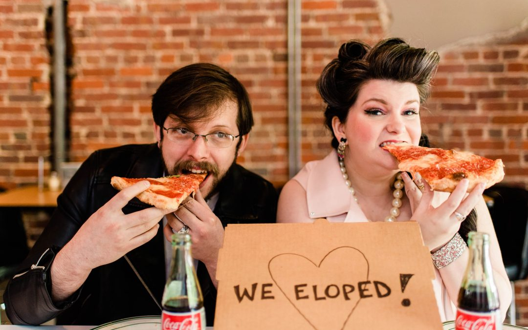 Punk Rock Pizza Elopement Styled Photoshoot