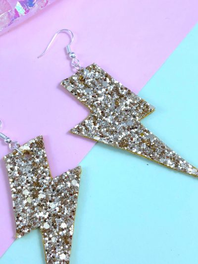 small glitter lightning bolts