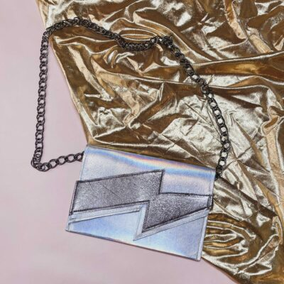 lightning bolt clutch purse